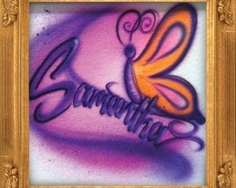 Butterfly airbrush t-shirt