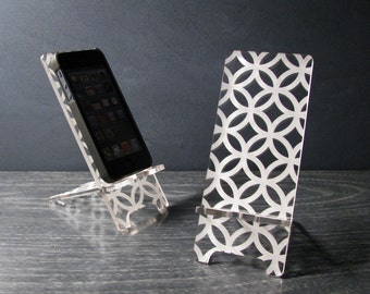 Hollywood Regency Retro Pattern Acrylic iPhone Stand Docking Station 5 Sizes -  iPhone 4, iPhone 5, iPhone 6, iPhone 6 Plus