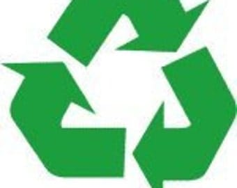 """Recycle Symbol 5"""" Vinyl Decal Widow Sticker for Car, Truck, Motorcycle, Laptop, Ipad, Window, Wall, ETC"""