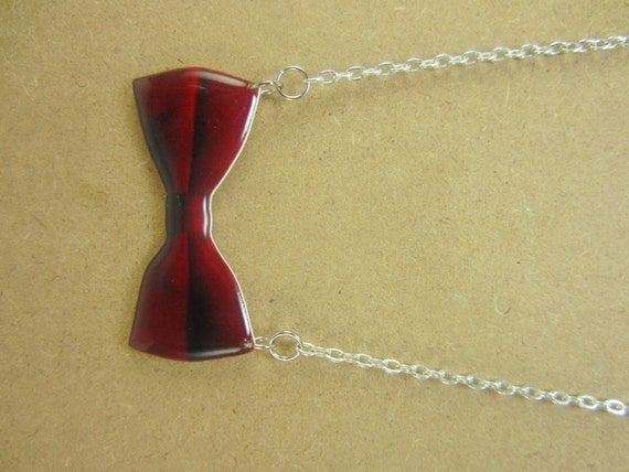 Dr. Who Inspired Eleventh Doctor Bow Tie Charm Necklace