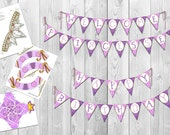 Disney Tangled - Inspired Printable Rapunzel Party Pack (Instant Download)