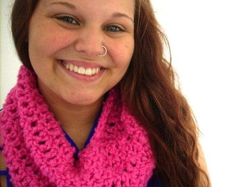 Poppin' pink 2 cowl collar neck warmer