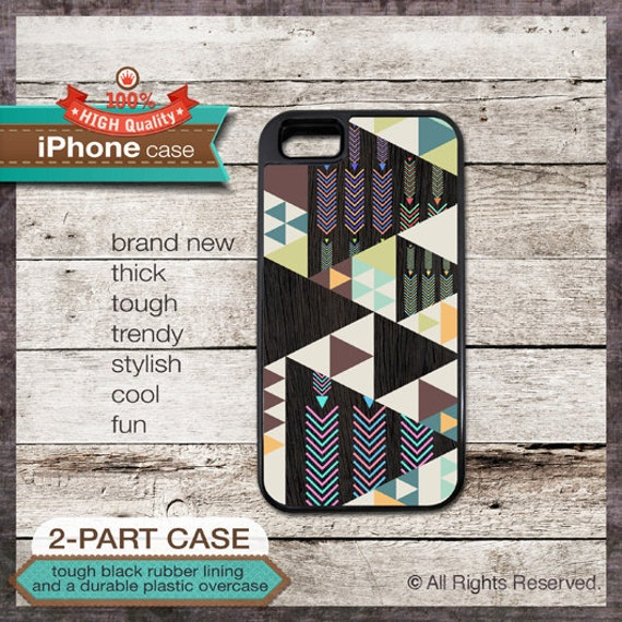 iPhone 6, 6+, 5 5S, 5C, 4 4S, Samsung Galaxy S3, S4 - Geometric Tribal Modern - Design Cover 46