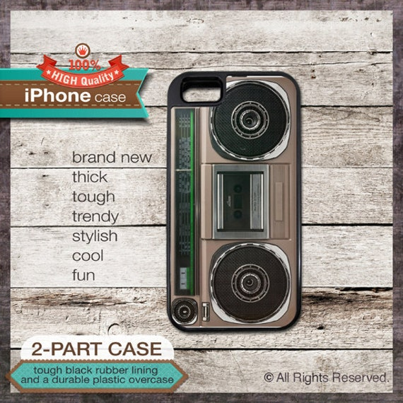 Boombox Radio vintage design - iPhone 6, 6+, 5 5S, 5C, 4 4S, Samsung Galaxy S3, S4 - Cover 122