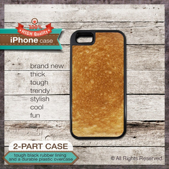 Toasted Bread Design iPhone Case - - iPhone 6, 6+, 5 5S, 5C, 4 4S, Samsung Galaxy S3, S4