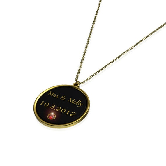 Necklace for Couples, Personalized 24K Gold Plated ...