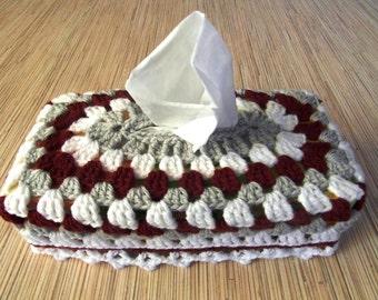 Crochet Tissue Box Cover, Zewa and Kleenex Box Cozy