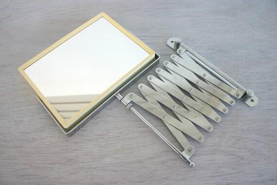 Chrome Accordion Arm Magnifying Wall Bathroom Mirror Silver
