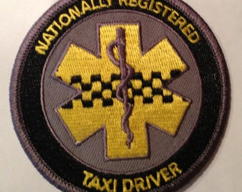 Nationally Registered Taxi Driver EMS/Paramedic patch