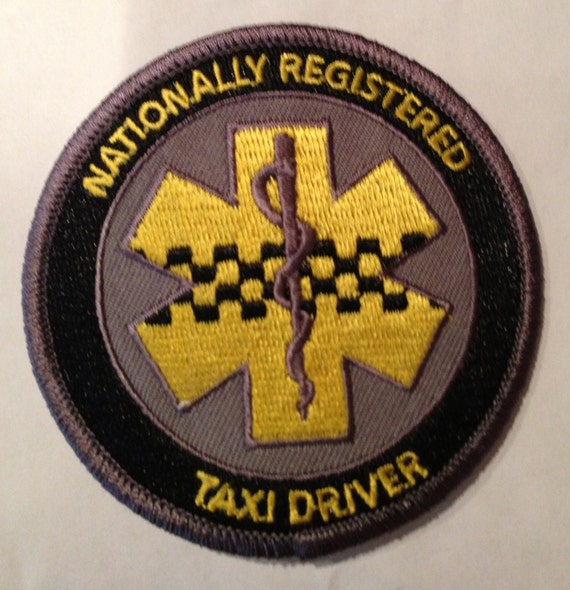 Nationally Registered Taxi Driver Ems Paramedic Patch