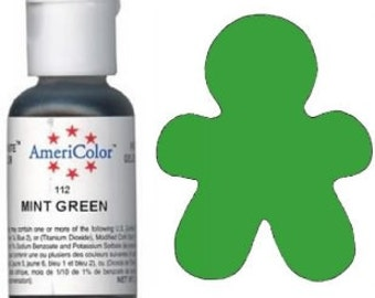 AmeriColor MINT Gel Paste 3/4 oz Food Coloring Cookies Cupcake Cake Decorating
