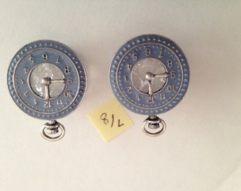 """7/8"""" Plugs Blue pocket watch plugs. One of a kind. READY TO SHIP."""
