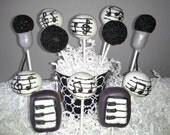 Music Cake Pops - Rock and Roll Party - Karaoke Party -  Music Party - Edible Party Favor