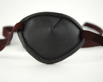 Black leather eye patch