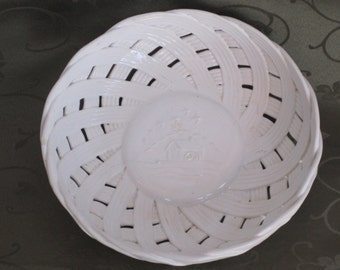 Ceramic Basket Weave Bowl