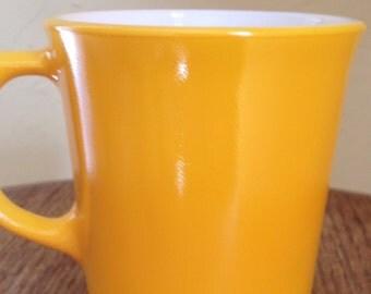 Vintage Corning Dark Yellow/Orange Coffee Mug-Perfect Condition