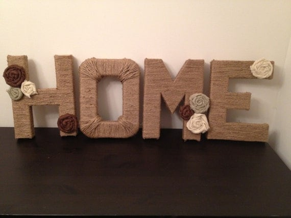 Items Similar To Block Letter Jute Wrapped Home Decor On Etsy