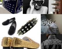 "50pcs 3/8"" screwback small metal cone spike studs for shoes jacket denim diy"