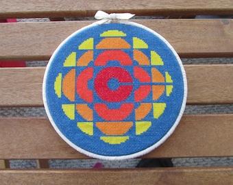 Retro CBC Logo--PDF Cross Stitch Pattern