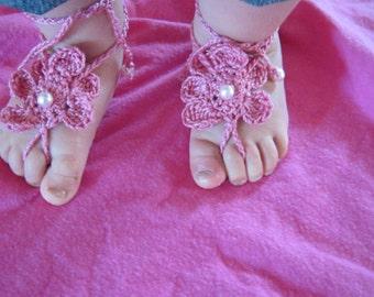 Barefoot Sandal Toe Gemz Hot Pink
