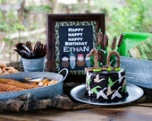 Printable Party Table Sign - Duck Dynasty Collection - My Delightful Designs