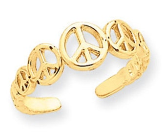 Peace Sign Toe Ring (JC-687)