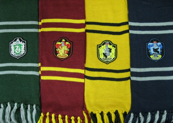 2m length harry potter hogwarts houses inspired scarf by