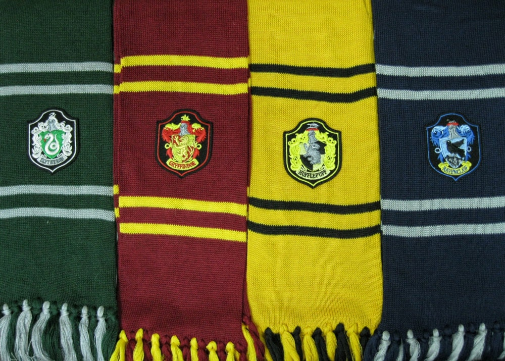 Harry Potter Book Lengths : Harry potter scarf m length hogwarts houses inspired