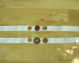 Organic Cotton Ribbon with Tagua Nut Buttons