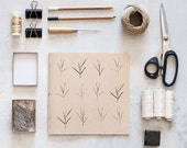 Square Recycled Sketchbook with botanical print