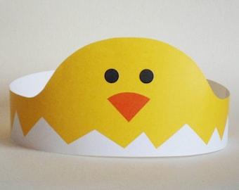 Chick Paper Crown - Printable
