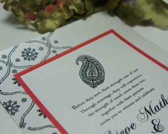 wedding invitations,  invitation invites invite  Indian Hena traditional  RSVP and reception available in any color