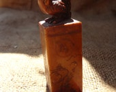 Great Carved Detailed Rooster Year of The Rooster Chinese Japanese Asian Stone Orange For Red Ink Art Stamp