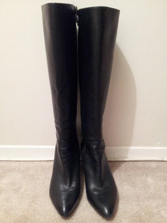 via spiga black leather boots