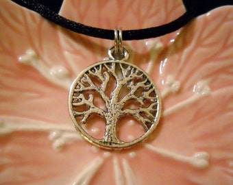 Tibetan Silver Tree of Life Necklace