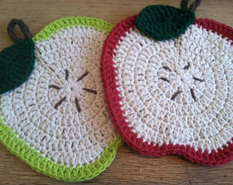 Apple Dishcloths- Set of 2