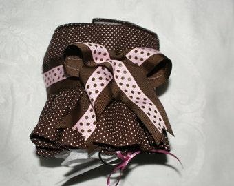 Brown Polka Dot Ruffled Harness