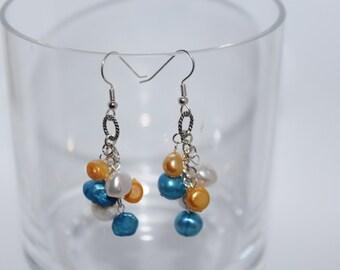 Freshwater Pearl Cluster Earrings