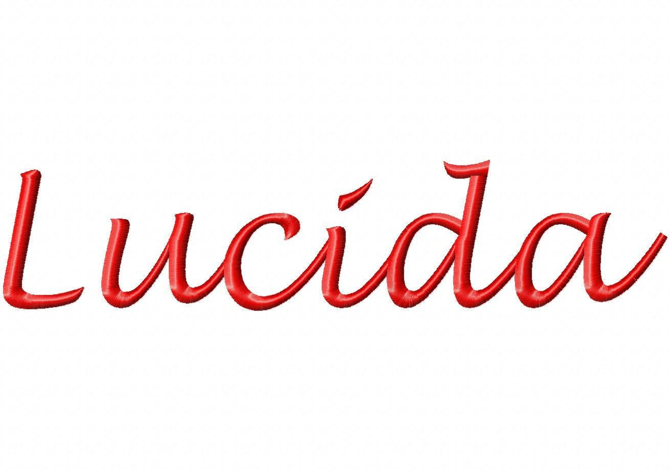 Lucida machine embroidery fonts