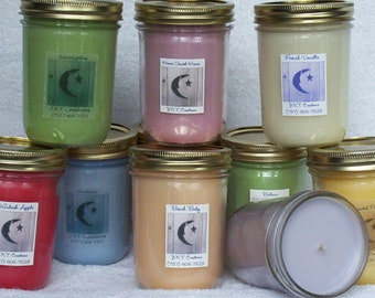 Hand Poured Homemade Triple Scented Candles