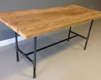 54' Reclaimed Wood Table Industrial Pipe Legs - FREE SHIPPING
