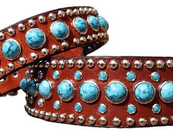 "1"" Jumbo Turquoise Collars (Large Sizes / 1"" wide)"