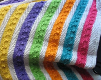 B-021 Multi Colored Knitted Afghan