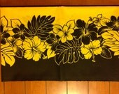 Yellow with Black Accents Lavalava