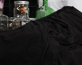 Solid Black TENCEL Designer Apparel Fabric Yardage