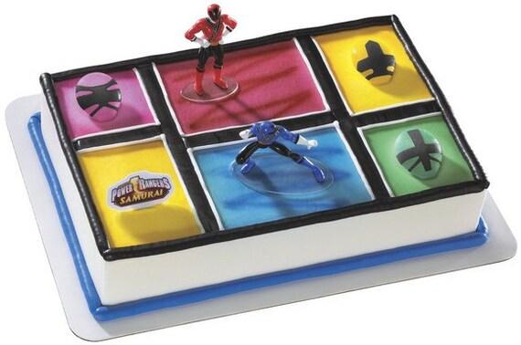 Power Rangers Samurai Cake Kit Topper by TheLuckierSide on Etsy