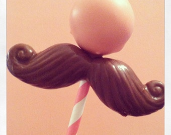 12 Mustache Cake Pop