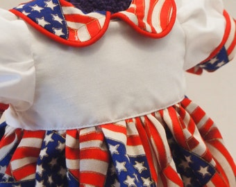 Stars and Stripes Dress fits 18 inch dolls such as American Girl