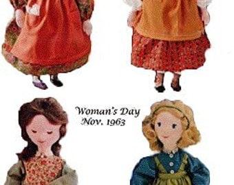 Little Women Dolls  Vintage Pattern - Photocopy