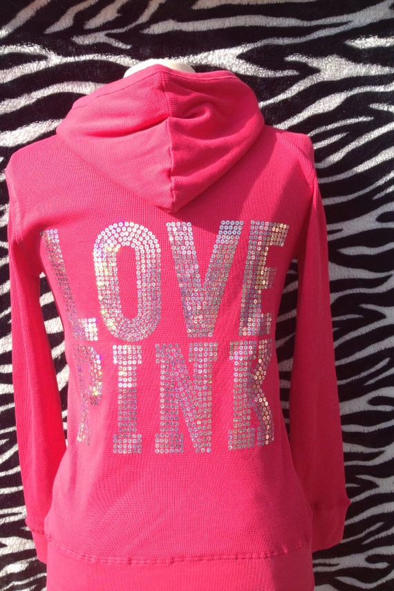 LOVE PINK Pink Hoodie Jacket